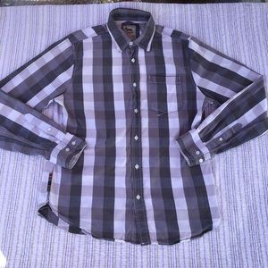 Triple Five Soul Medium Grey/White Button Down